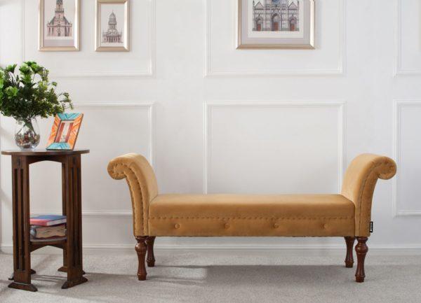Light orange chaise longue