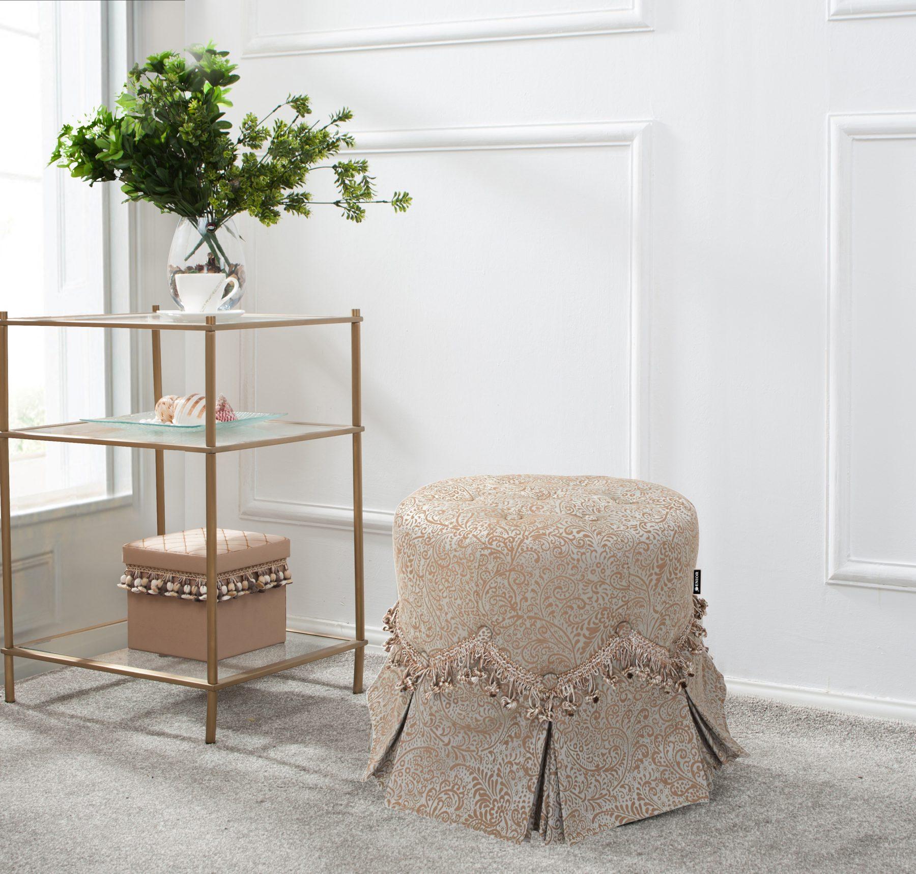Sultry light beige foot stool