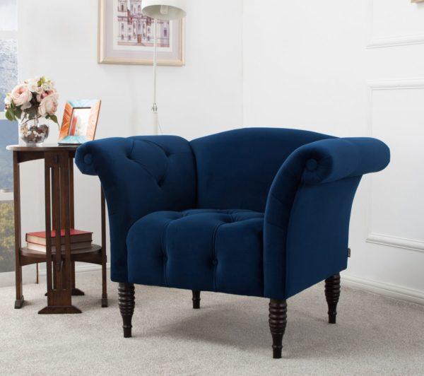 Royal deep blue armchair