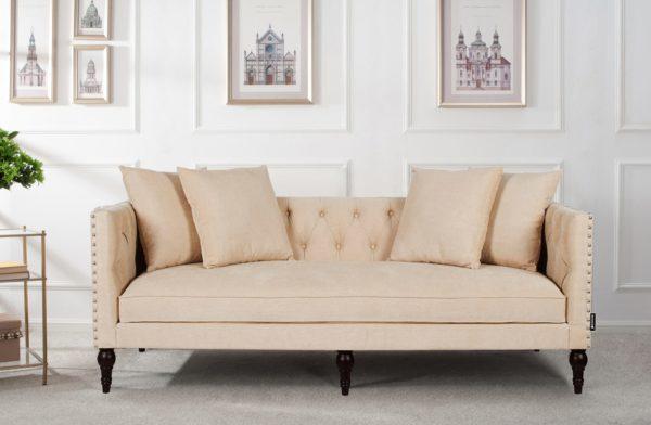 Beautiful cream 2 seater sofa
