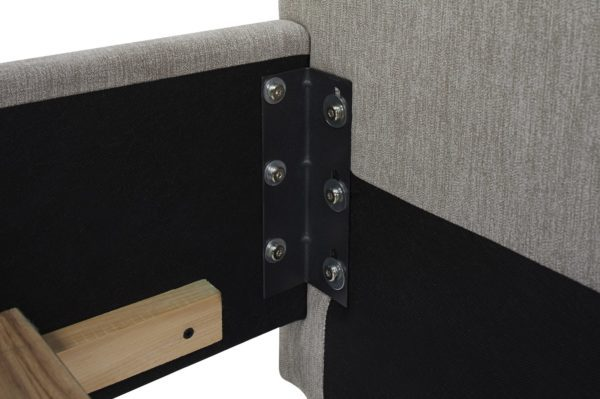 Grey cotton bed frame