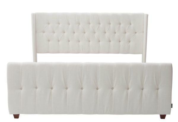 Elegant white bed frame
