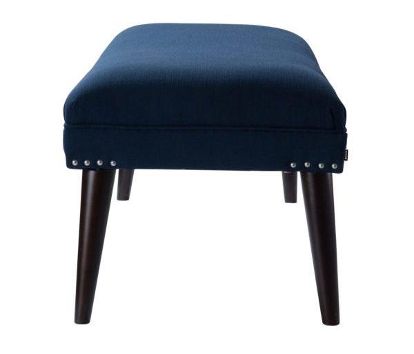 Luxurious royal blue stool bench