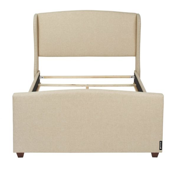 Stylish cream beige classic bed frame