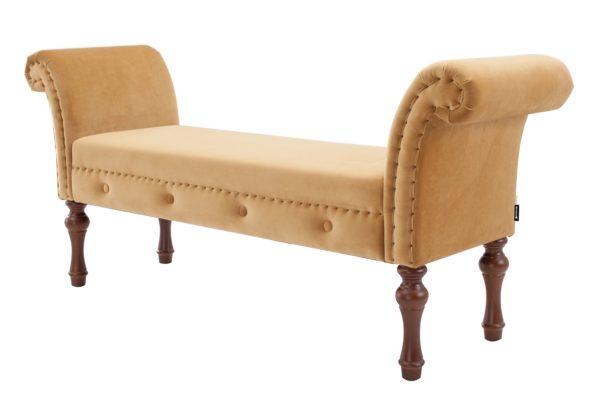 Sumptuous caramel chaise longue