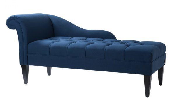 Timeless royal blue chaise longue