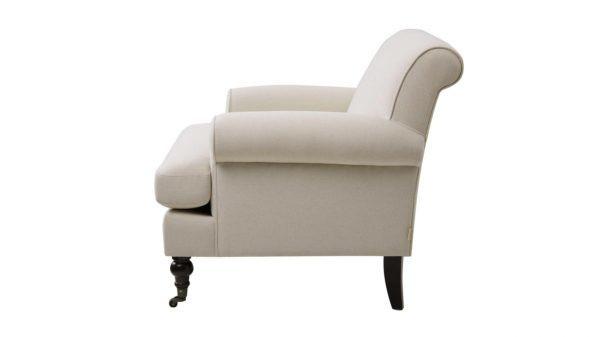 Beautifully chosen pale beige armchair