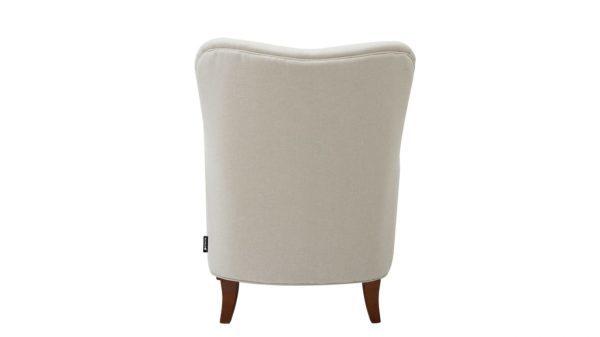 Crisp white armchair