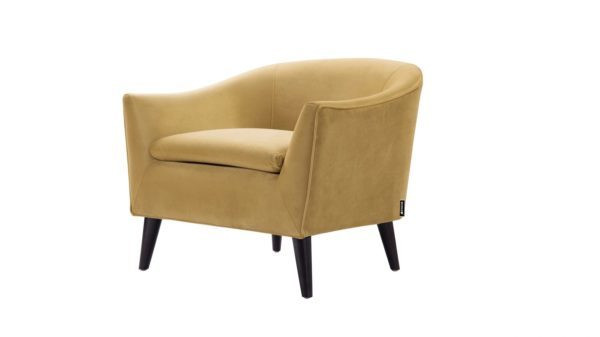 Comfy light yellow armchair