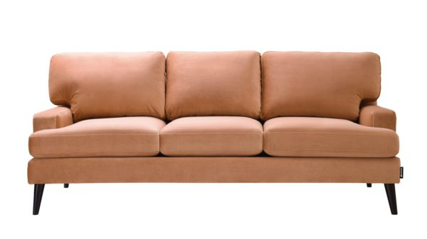 Comfortable nude 3 seater sofa