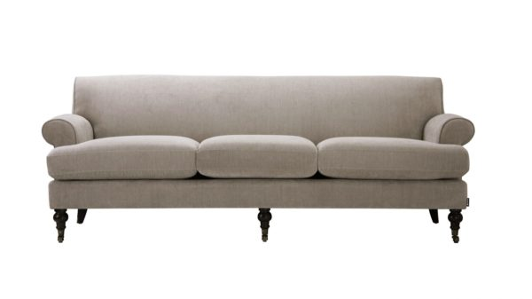 Sassy light grey 3 seater sofa