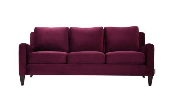 Rich plum 3 seater sofa