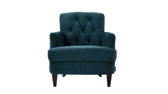 Mordern dark teal styled armchair