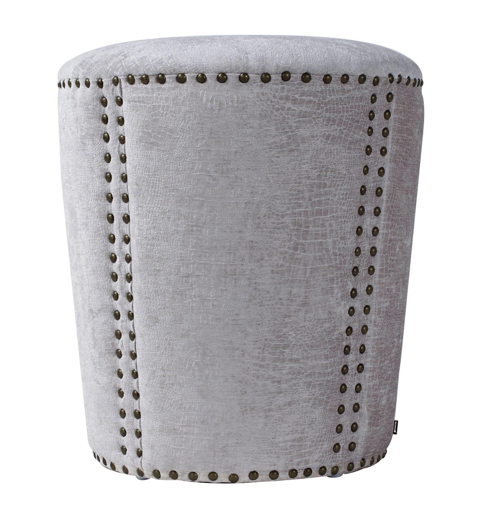 Elegant grey studded foot stool