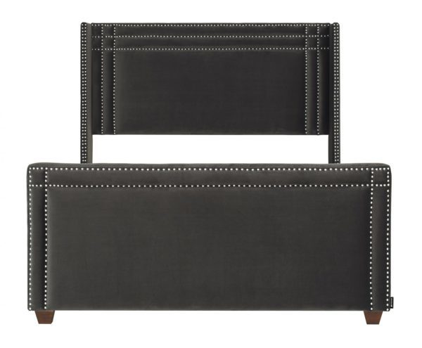Stylish black studded bed frame