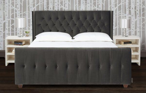 Swish dark grey bed frame
