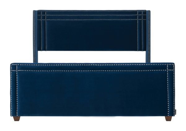 Swish dark blue styled bed frame