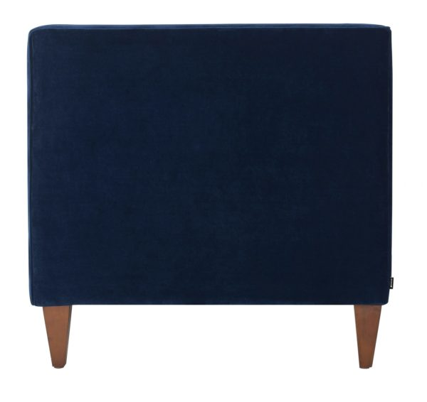 Luxurious deep blue 2 seater sofa