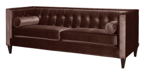 Posh designed brown 2 seater sofa