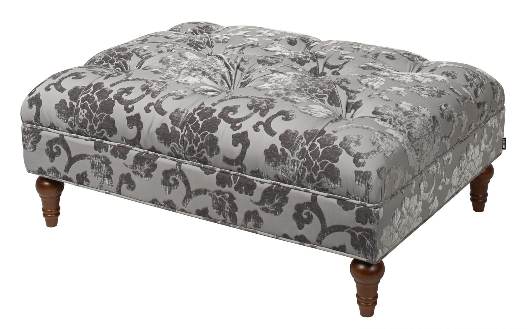 Sassy patterned suede stool