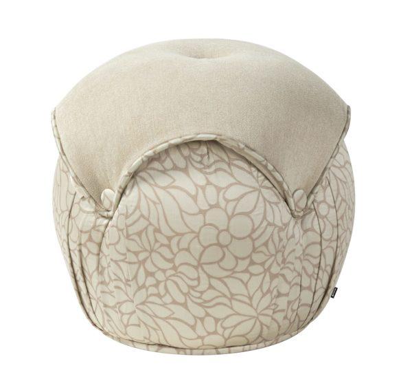 Fab round cream gold foot stool