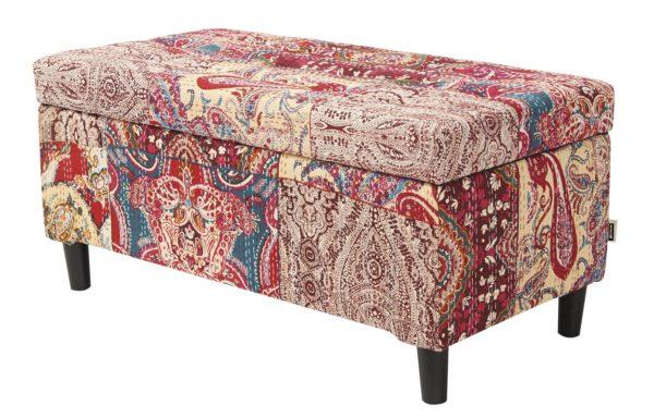 Aztec patterned storage chest