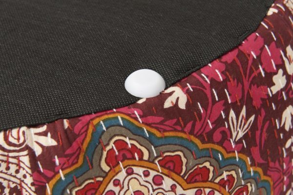 Round aztec patterned foot stool