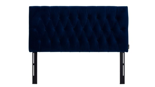 Royal blue headboard