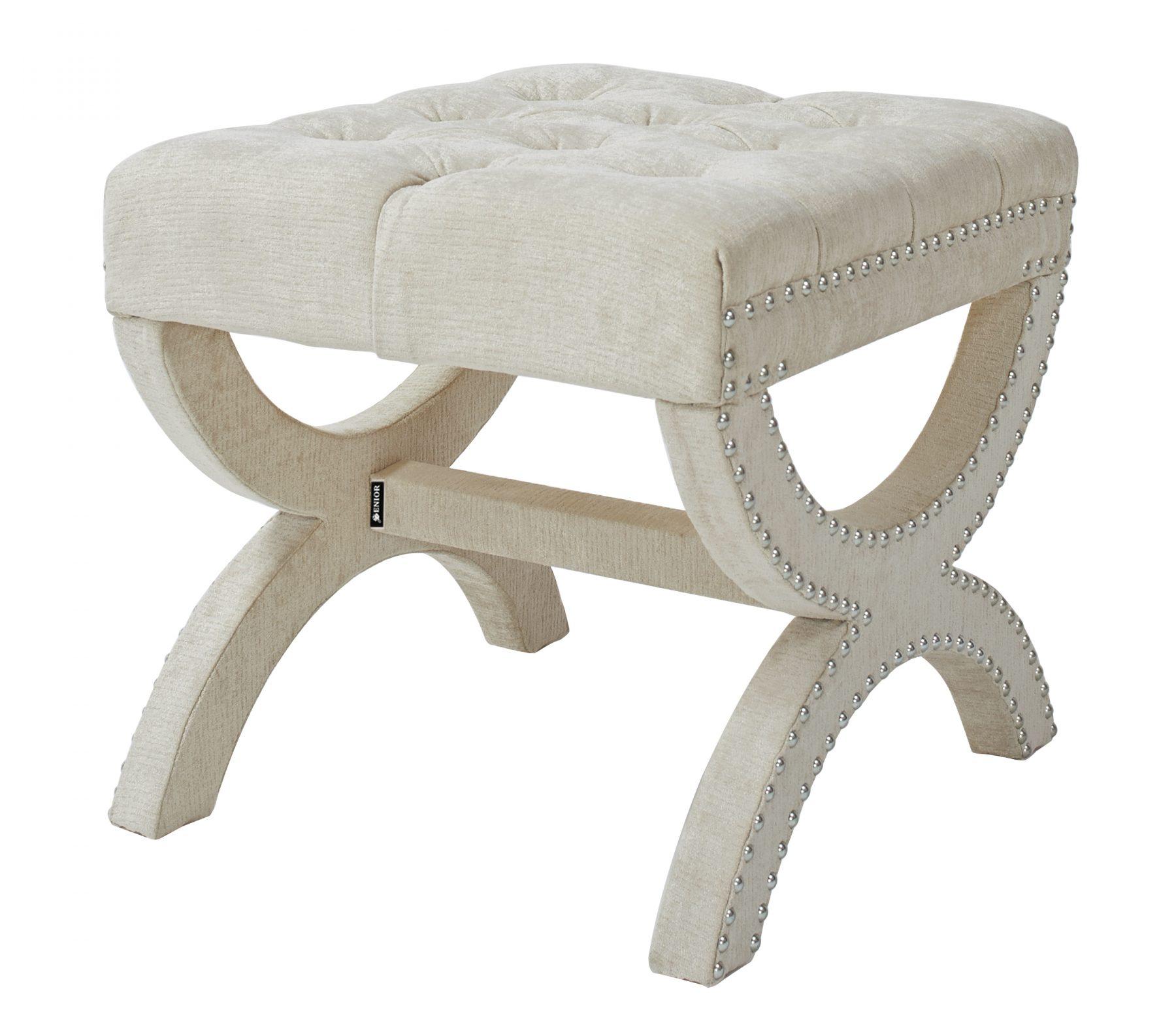 Stunning cream studded stool