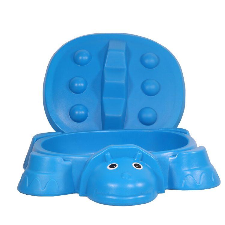 Blue animal sandpit