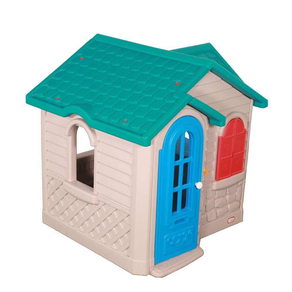 Cute green roofed playhouse