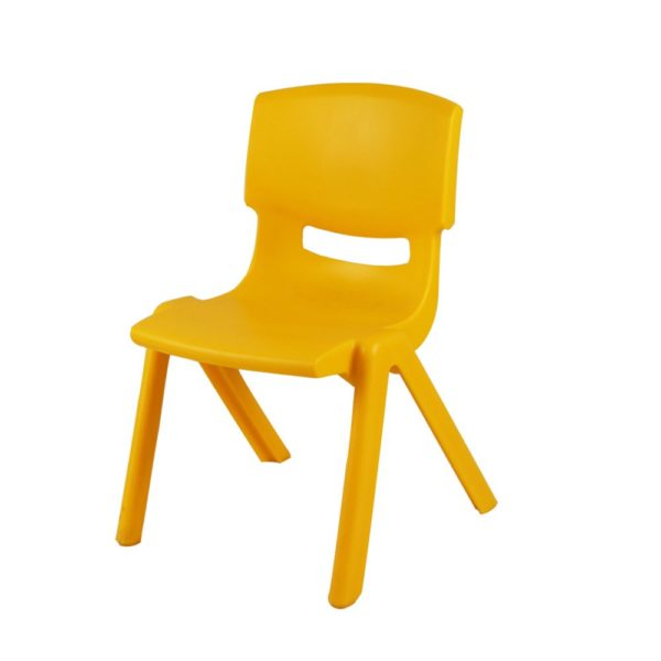 Colourful set of 4 chairs