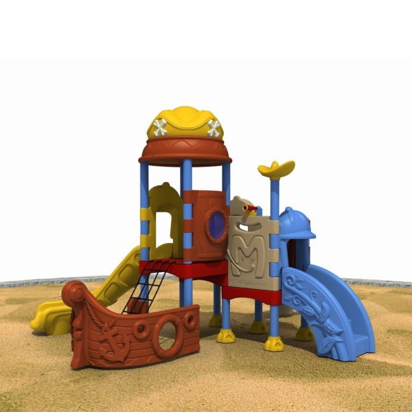 Double slide pirate ship