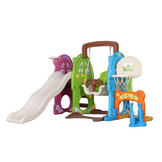 Colourful slide & swing set