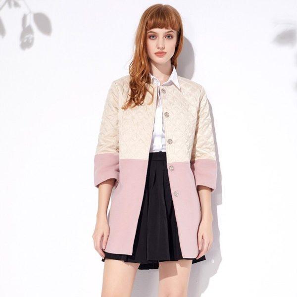 Sexy pink winter coat