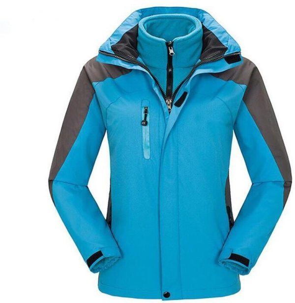 Two coloured winter coat