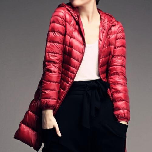 Mid length puffa coat