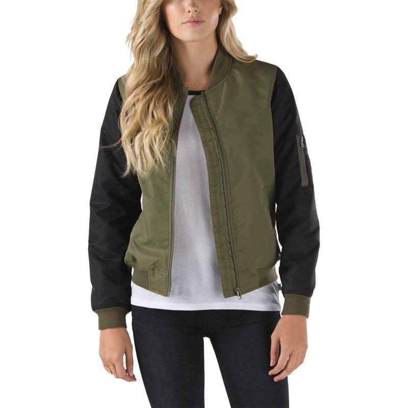 Green urban bomber jacket