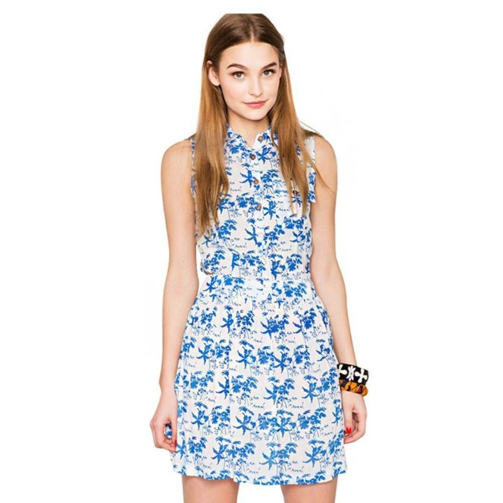 Blue floral patterned dress