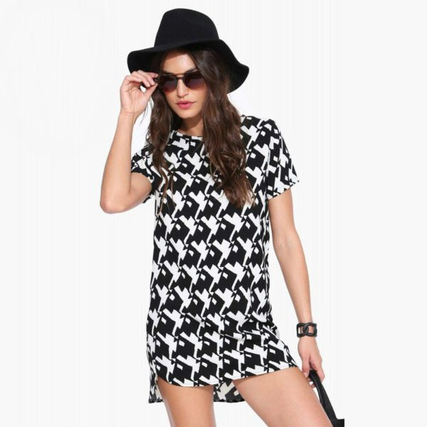 Casual patterned dress