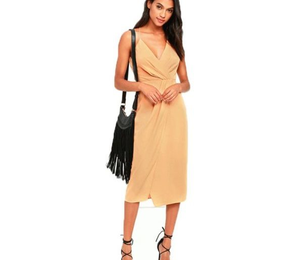 Classic gold evening dress