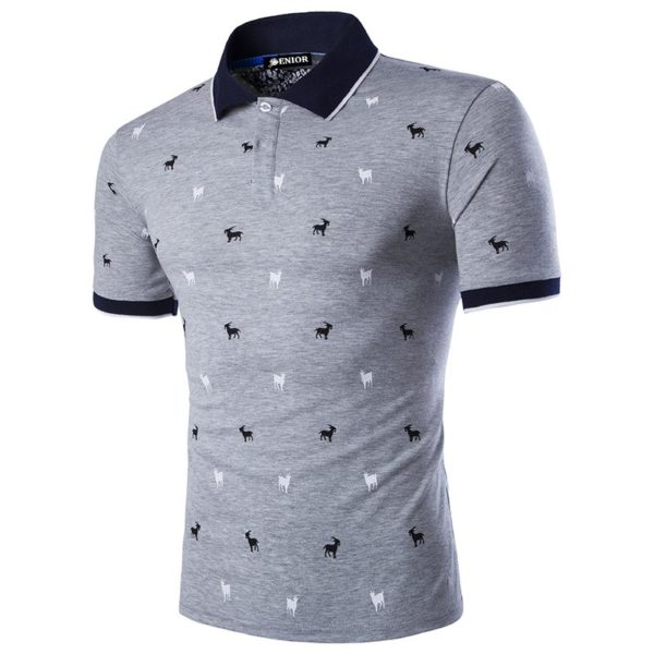 Three coloured buttoned polo shirt