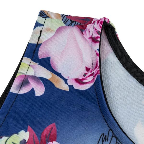 Sleeveless flower patterned skater dress
