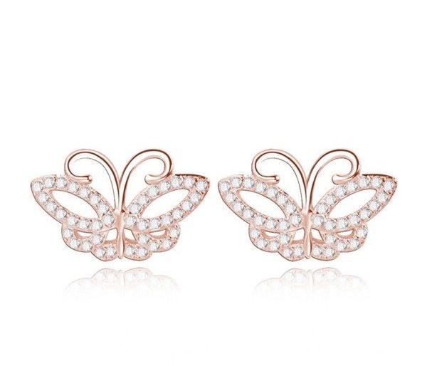 Butterfly gold earrings