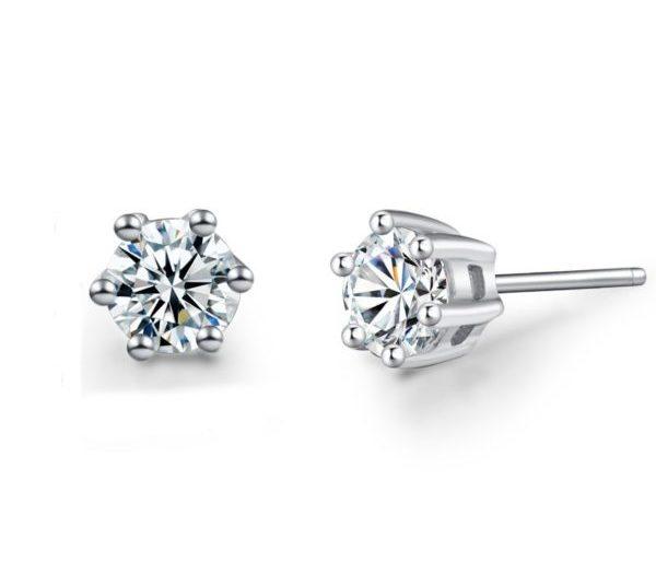 Cute cut silver earrings