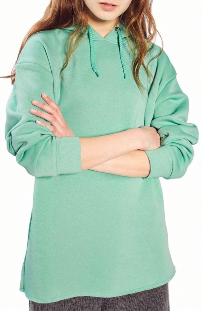Casual dark turquoise hoodie