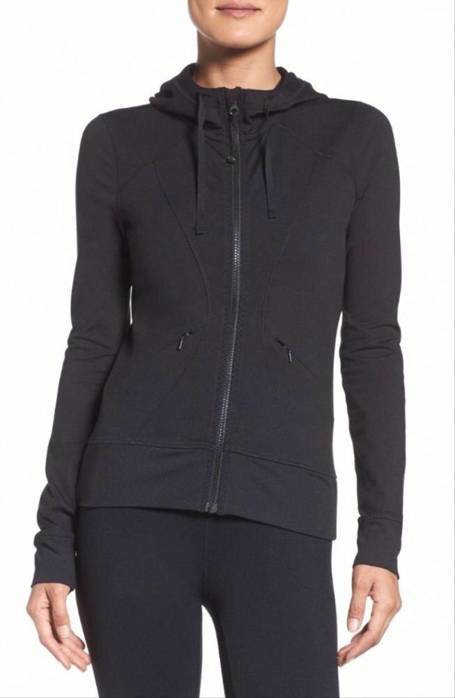 Casual black gym hoodie