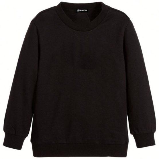 Casual black sweatshirt