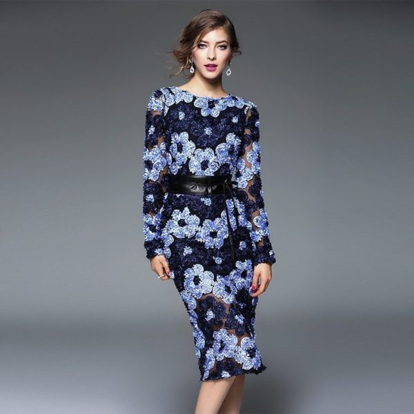 Vibrant patterned office dress