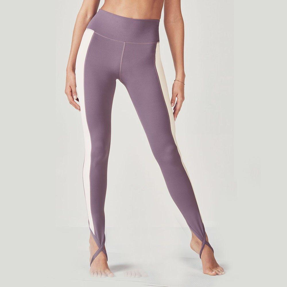 Purple & white gym leggings